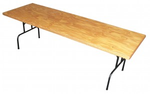 Trestle Table Hire (2.4m) - Exhibition Hire Sunshine Coast