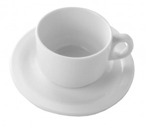 Deluxe Coffee Cup & Saucer Set Hire - Event Hire Sunshine Coast