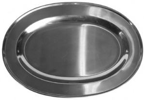 Stainless Steel Oval Platter Hire - Exhibition Hire Brisbane